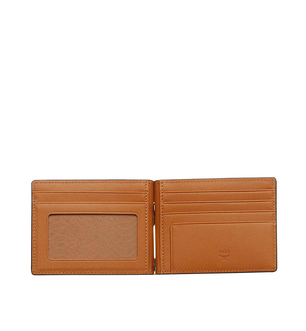 MCM Money Clip Wallet in Visetos Original Cognac MXCAAVI01CO001 Alternate View 3