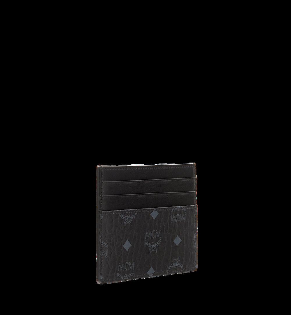 MCM Money Clip Card Case in Visetos Original Black MXCAAVI02BK001 Alternate View 1