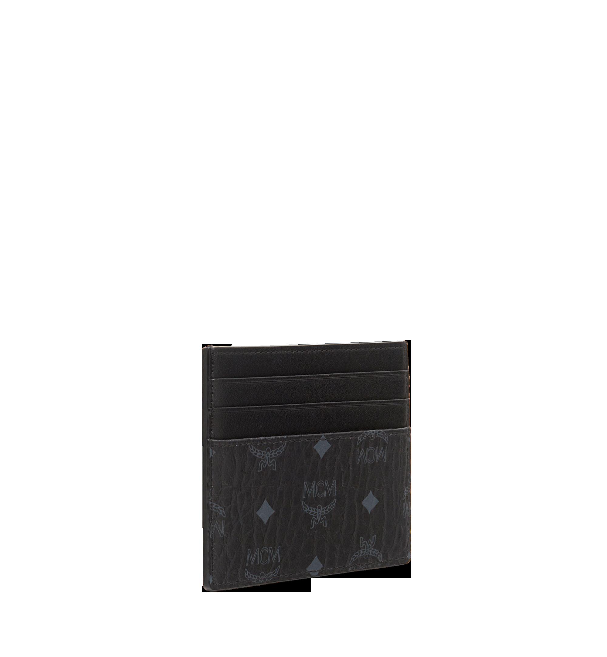 MCM Money Clip Card Case in Visetos Original Black MXCAAVI02BK001 Alternate View 2