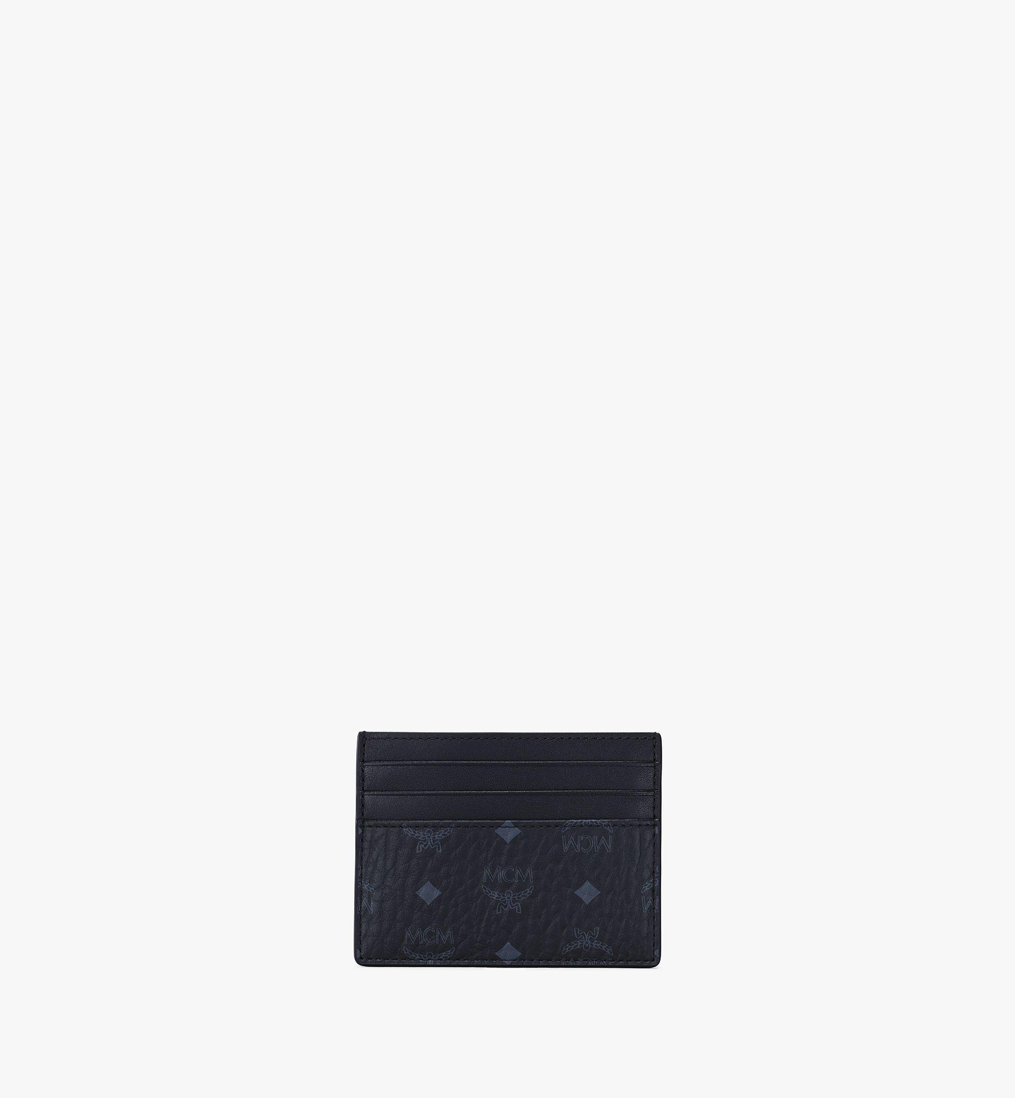 MCM Kartenetui mit Geldscheinklammer in Visetos Original Black MXCAAVI02BK001 Alternate View 4