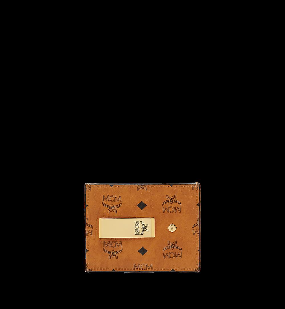 MCM Money Clip Card Case in Visetos Original Cognac MXCAAVI02CO001 Alternate View 1