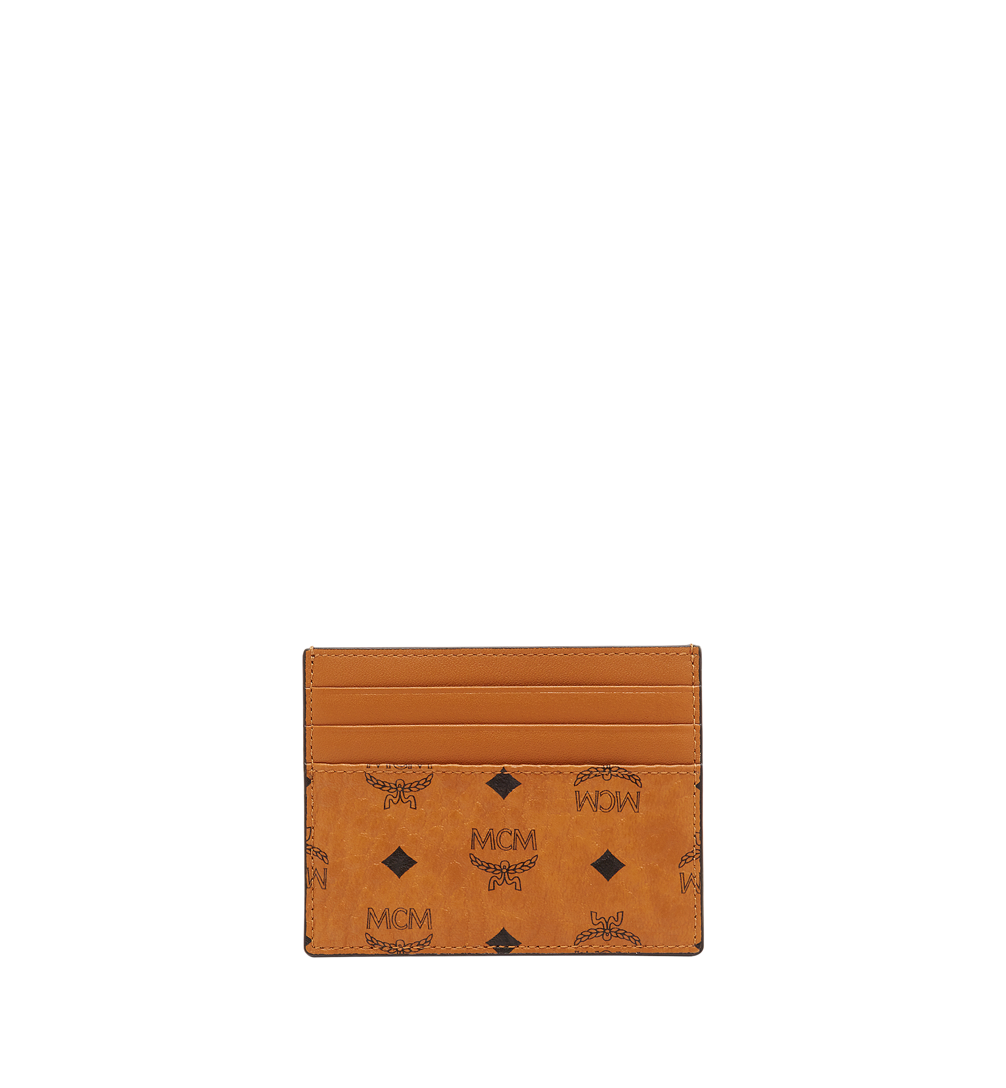 MCM Money Clip Card Case in Visetos Original Cognac MXCAAVI02CO001 Alternate View 2