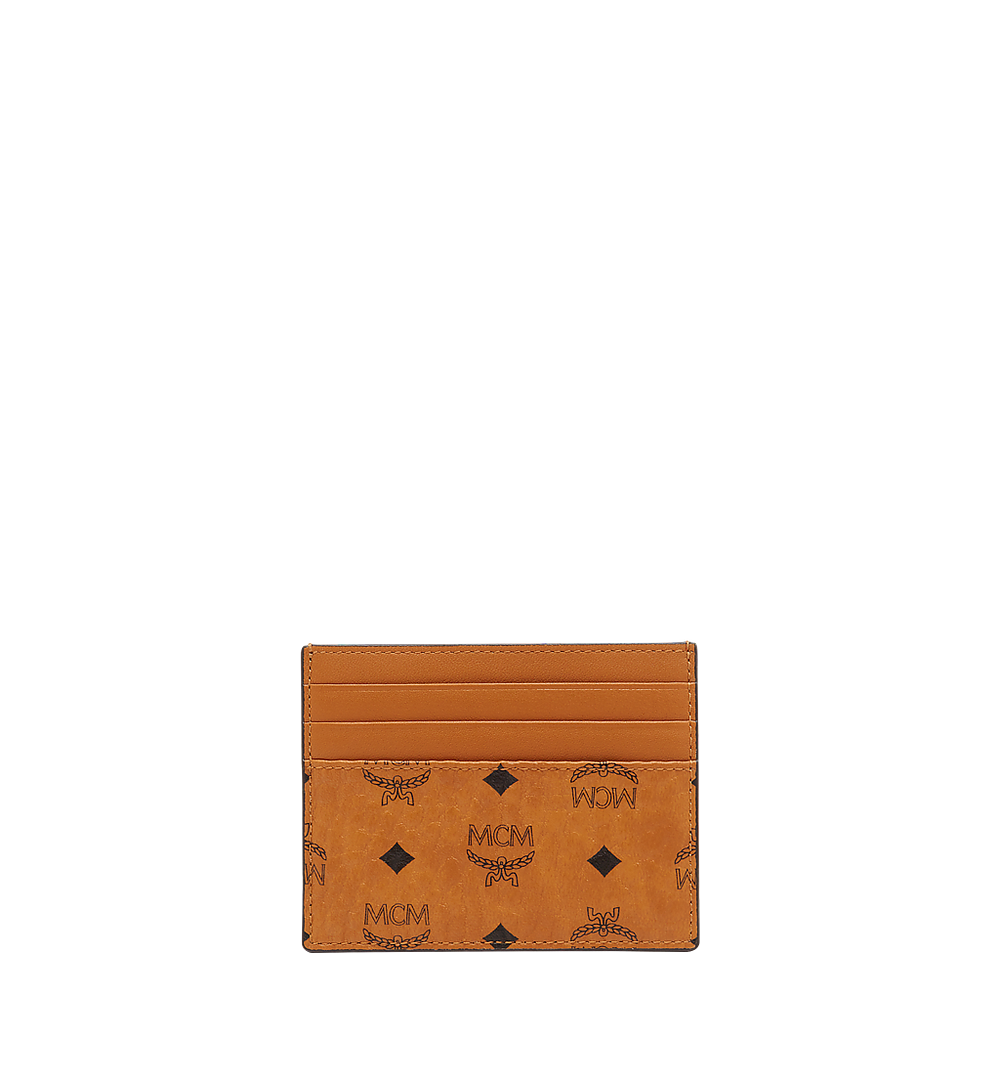 MCM Money Clip Card Case in Visetos Original Cognac MXCAAVI02CO001 Alternate View 2