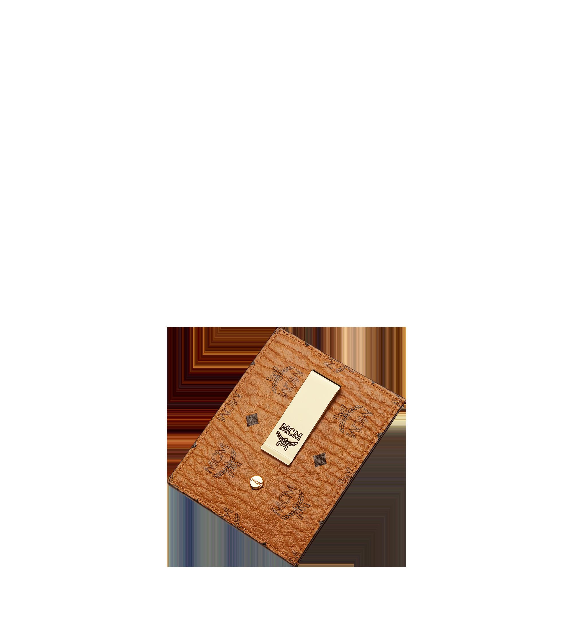 MCM Money Clip Card Case in Visetos Original Cognac MXCAAVI02CO001 Alternate View 3