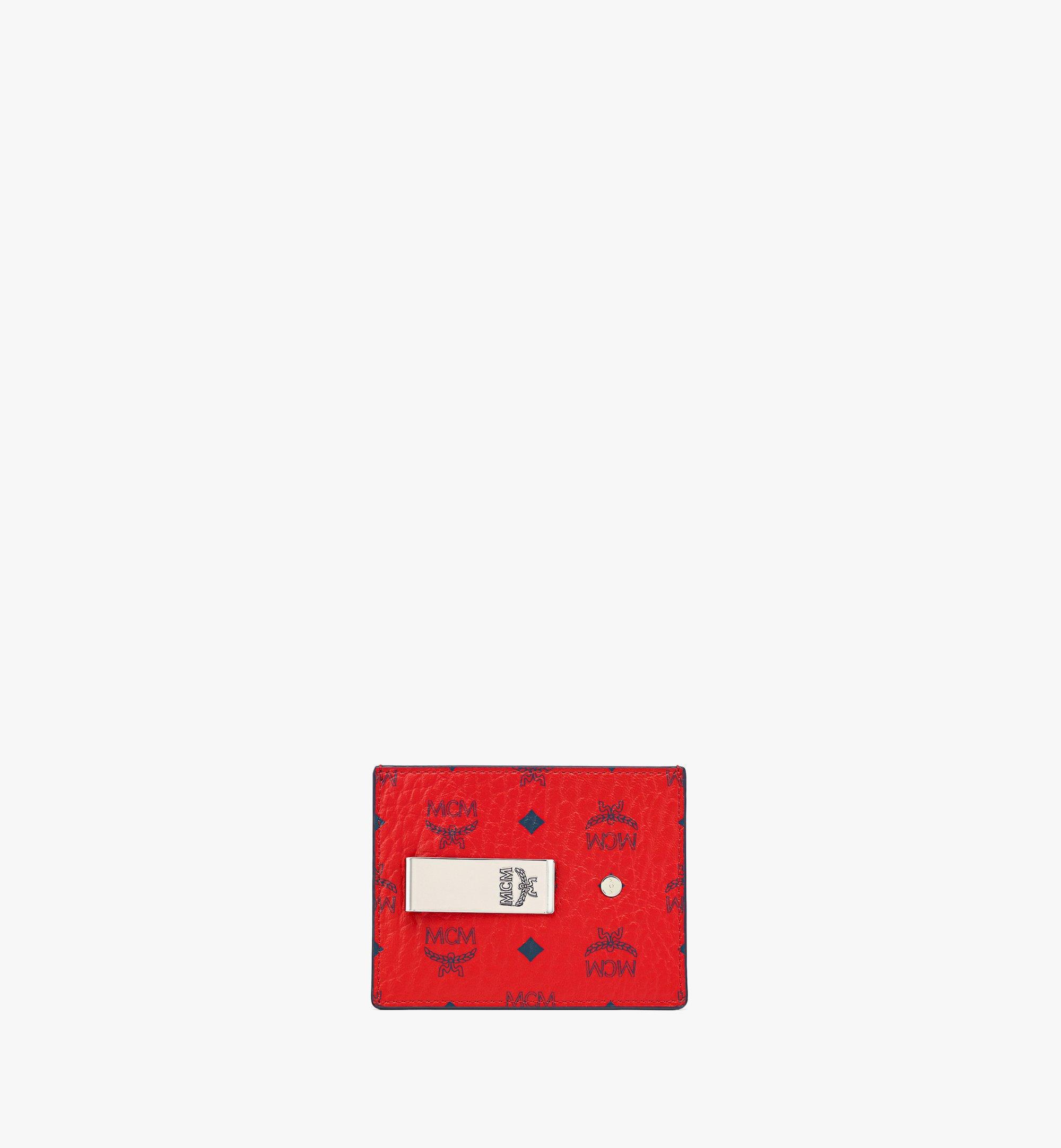 MCM Money Clip Card Case in Visetos Original  MXCAAVI02XC001 Alternate View 1