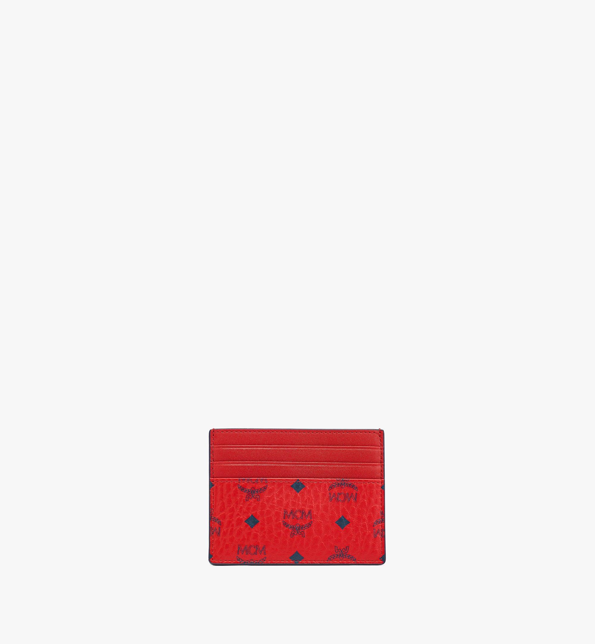 MCM Money Clip Card Case in Visetos Original  MXCAAVI02XC001 Alternate View 2