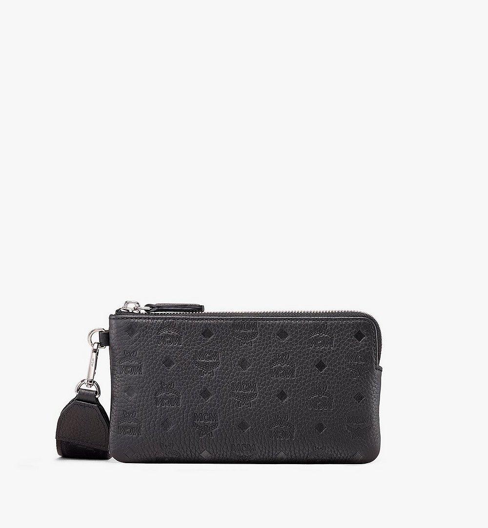 MCM Tivitat Tech Pouch in Monogram Leather Black MXE9ABT21BK001 Alternate View 1