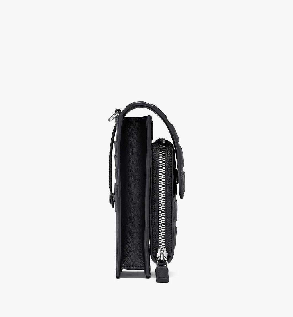 MCM Crossbody-Smartphonehülle aus Leder mit MCM-Monogramm Black MXEAAMD01BK001 Noch mehr sehen 1