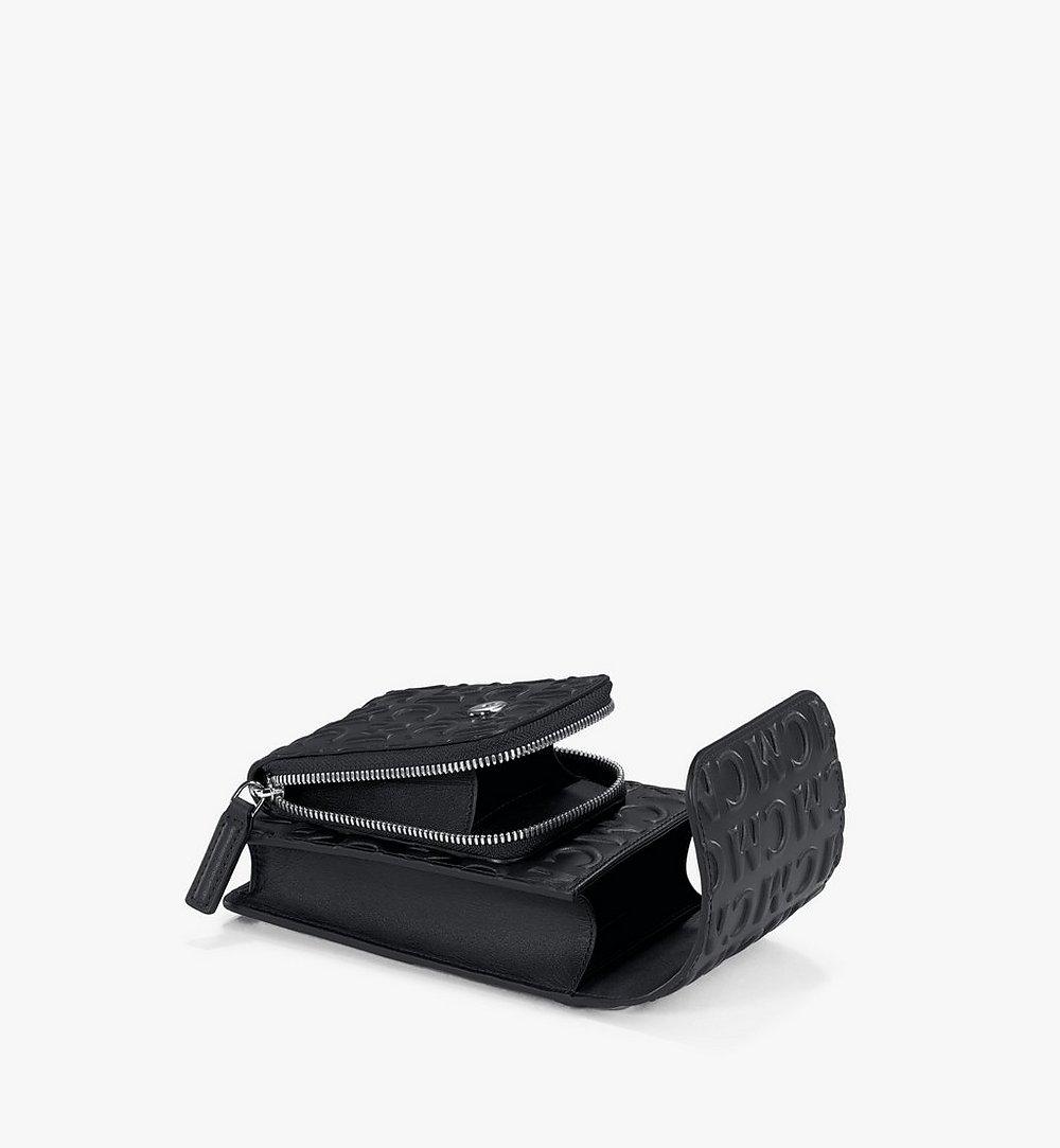 MCM Crossbody-Smartphonehülle aus Leder mit MCM-Monogramm Black MXEAAMD01BK001 Noch mehr sehen 2