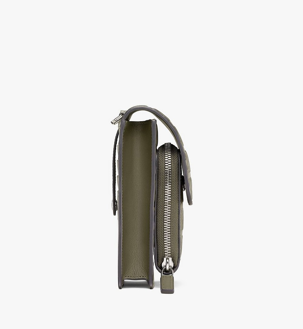 MCM Étui pour téléphone à bandoulière en cuir monogrammé MCM Cognac MXEAAMD01JH001 Plus de photos 1