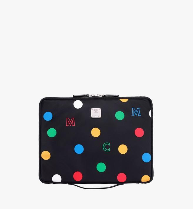 """MCM 13"""" iPad Case in Polka Dot Nylon Alternate View"""