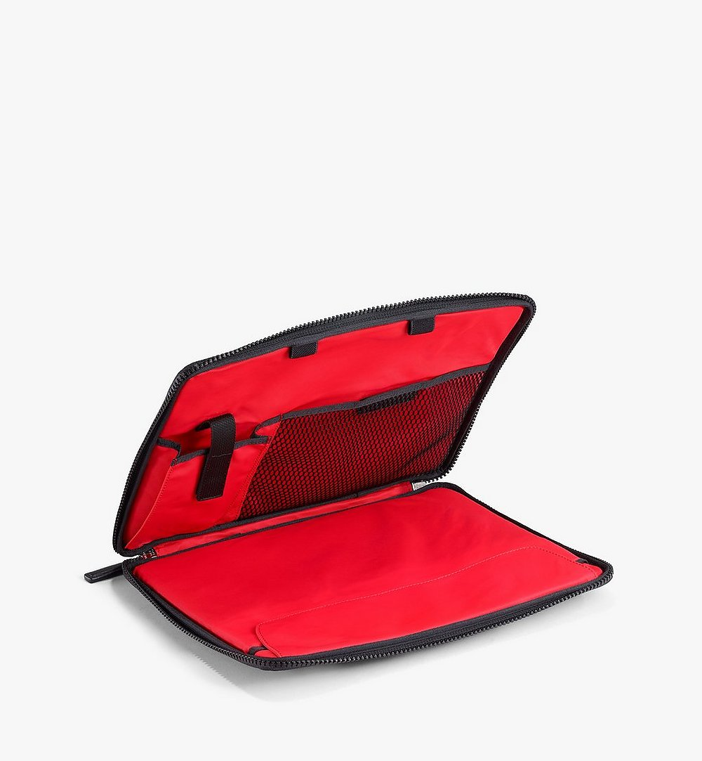 "MCM 13"" iPad Case in Polka Dot Nylon Black MXEAAPD01BK001 Alternate View 1"