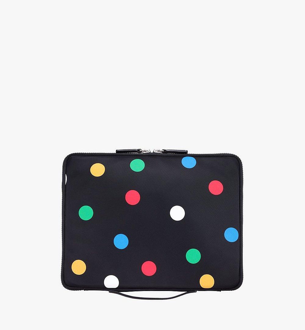 "MCM 13"" iPad Case in Polka Dot Nylon Black MXEAAPD01BK001 Alternate View 2"