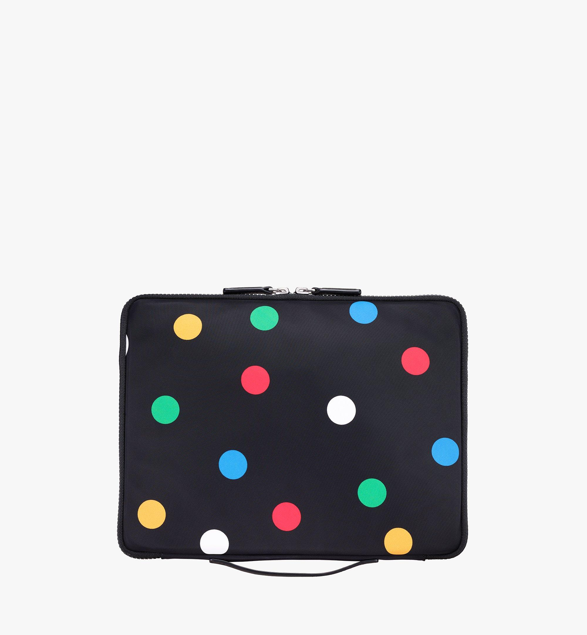 "MCM 13"" iPad Case in Polka Dot Nylon Black MXEAAPD01BK001 Alternate View 3"