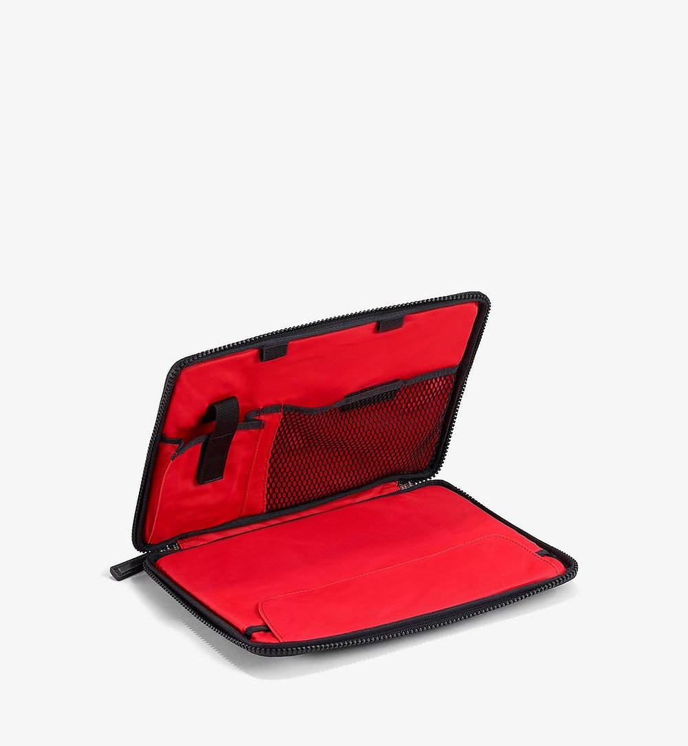 "MCM 11"" iPad Case in Polka Dot Nylon Black MXEAAPD02BK001 Alternate View 1"