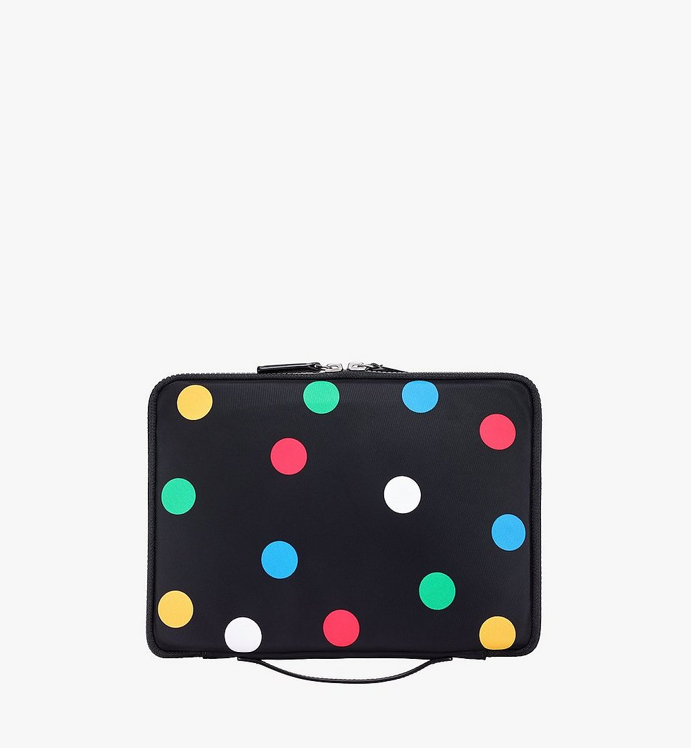 "MCM 11"" iPad Case in Polka Dot Nylon Black MXEAAPD02BK001 Alternate View 2"