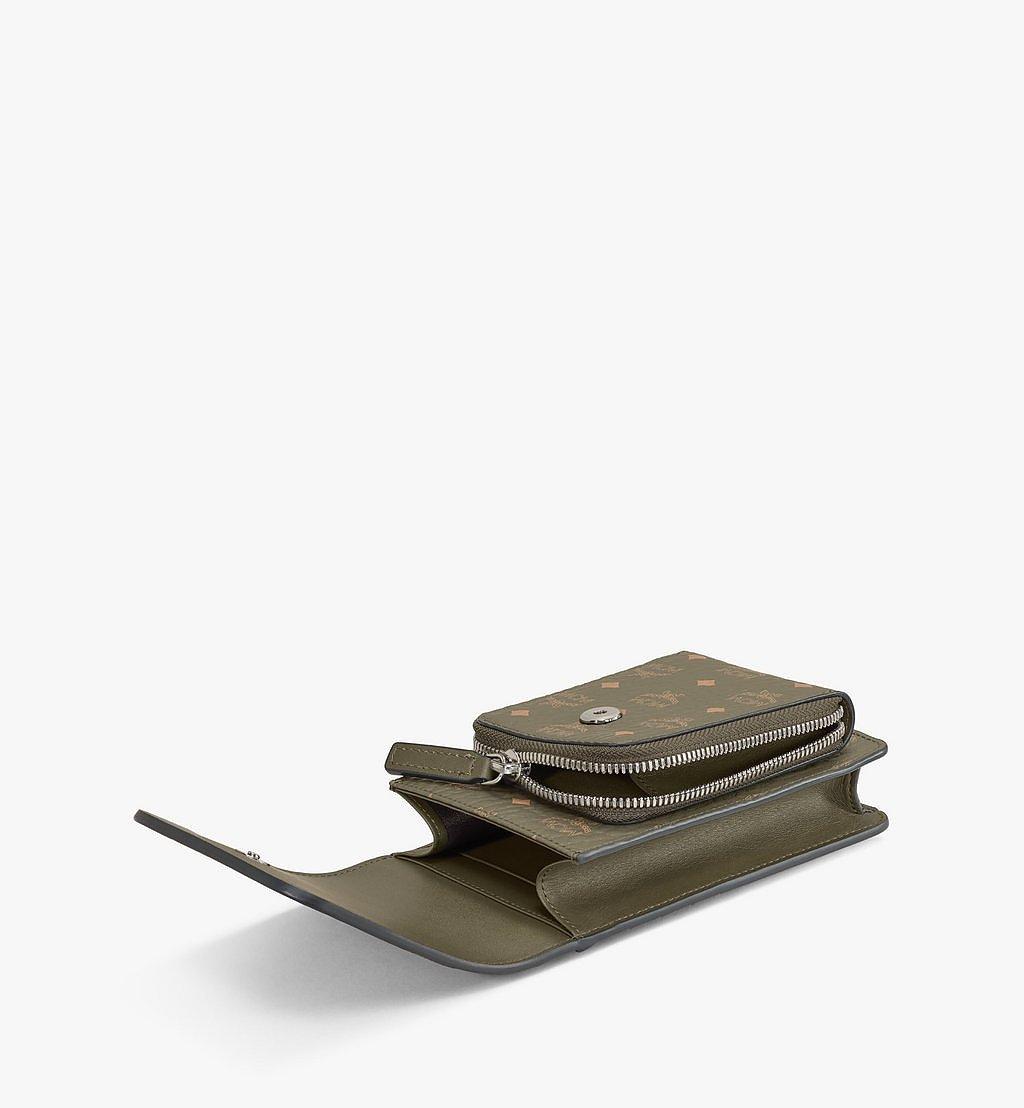 MCM Crossbody Phone Case in Visetos Original Green MXEAAVI02JH001 Alternate View 1