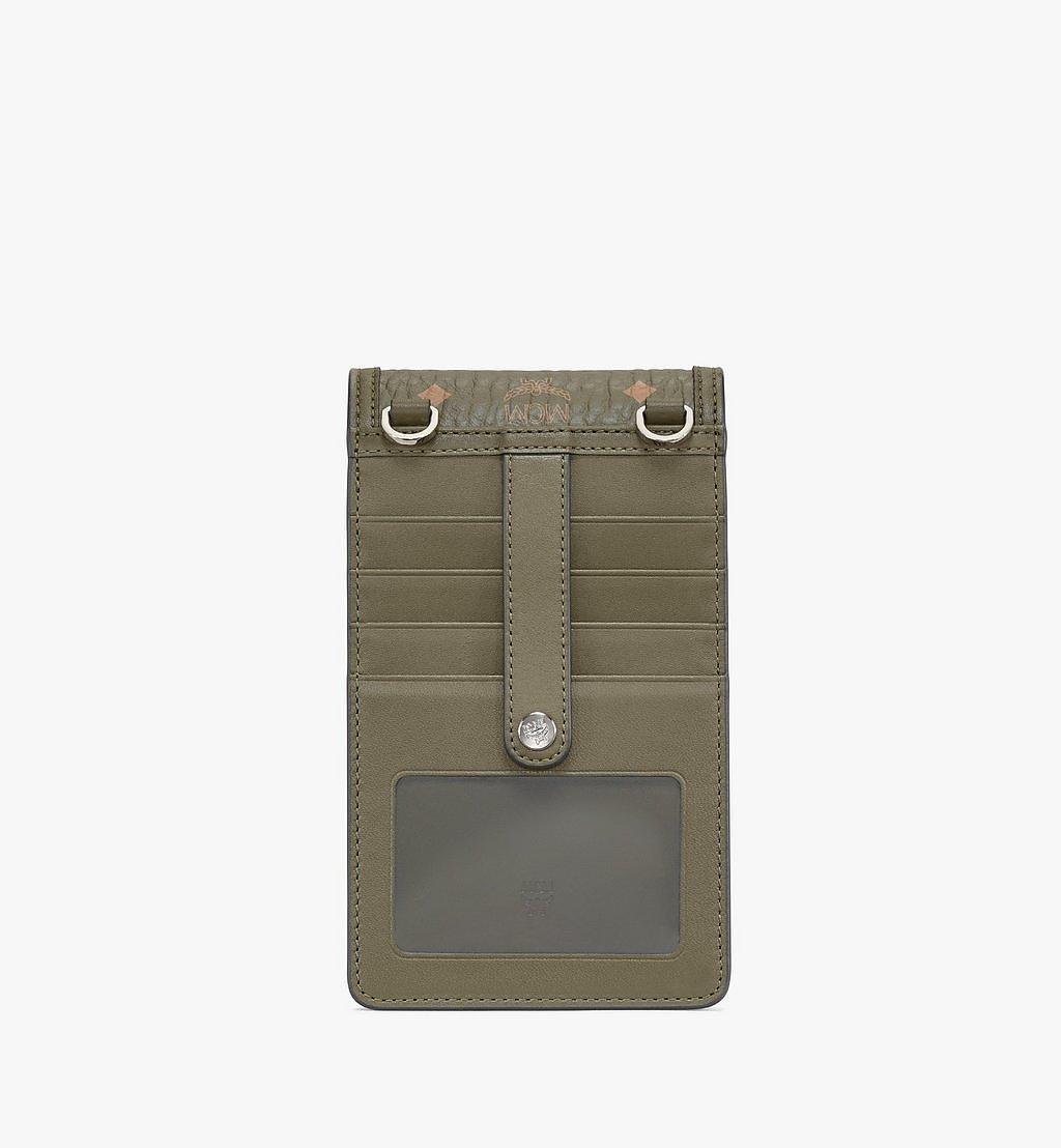 MCM Crossbody Phone Case in Visetos Original Green MXEAAVI02JH001 Alternate View 2