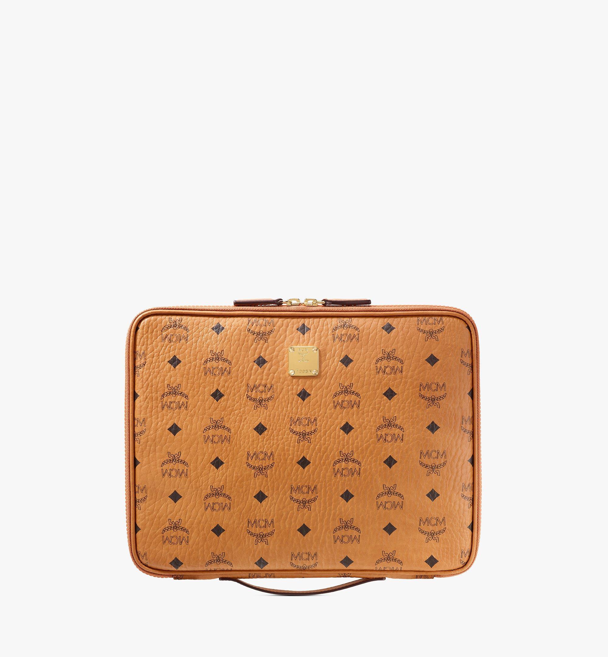 """MCM 13"""" iPad Case in Visetos Original Cognac MXEAAVI03CO001 Alternate View 1"""