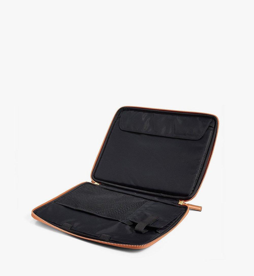 """MCM 13"""" iPad Case in Visetos Original Cognac MXEAAVI03CO001 Alternate View 2"""