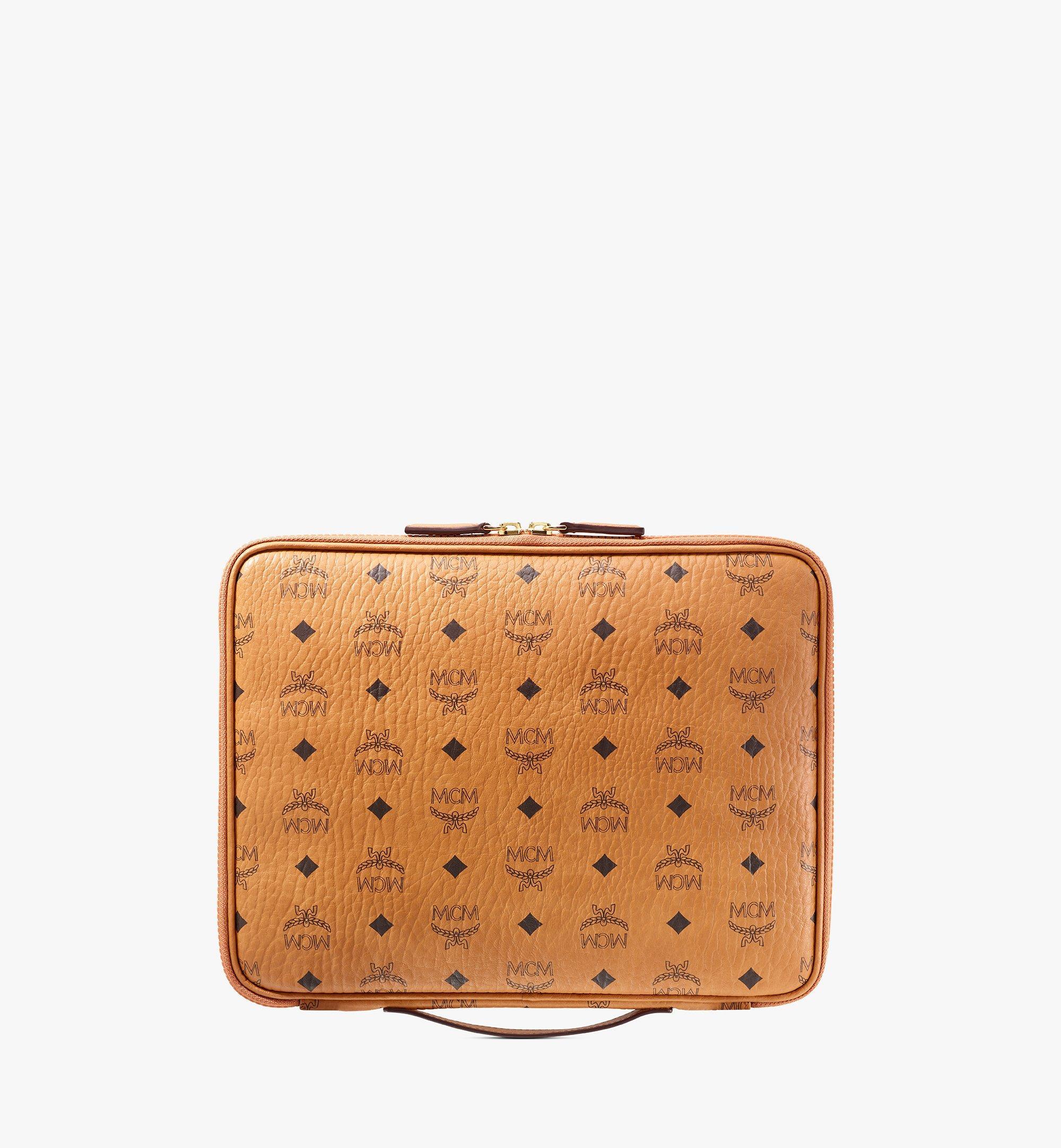 """MCM 13"""" iPad Case in Visetos Original Cognac MXEAAVI03CO001 Alternate View 3"""
