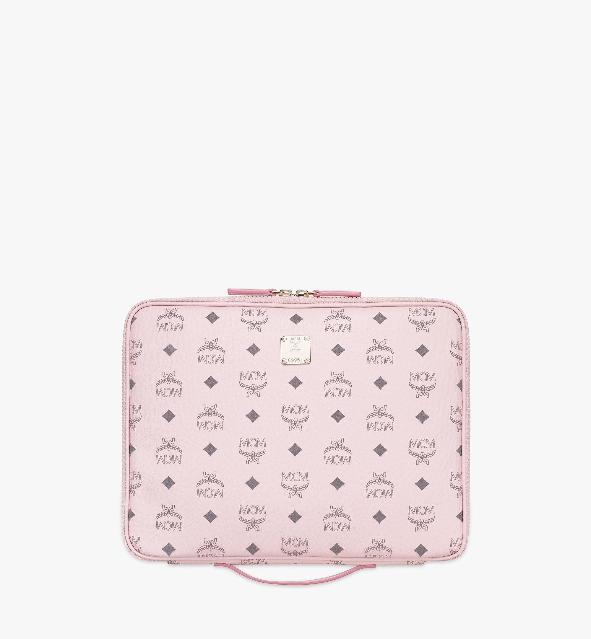 "MCM 13"" iPad Case in Visetos Original Pink MXEAAVI03QH001 Alternate View 1"