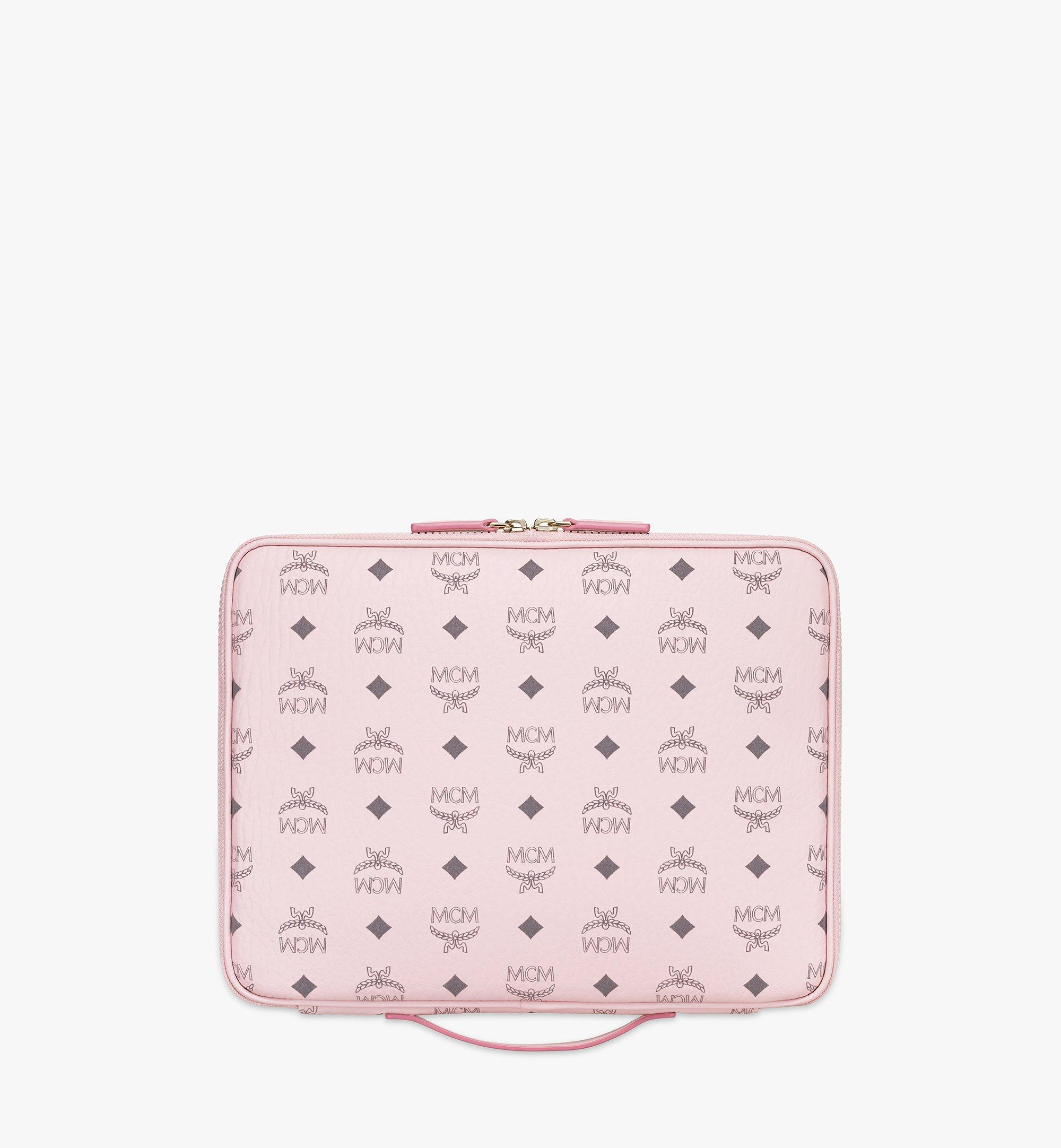 "MCM 13"" iPad Case in Visetos Original Pink MXEAAVI03QH001 Alternate View 3"