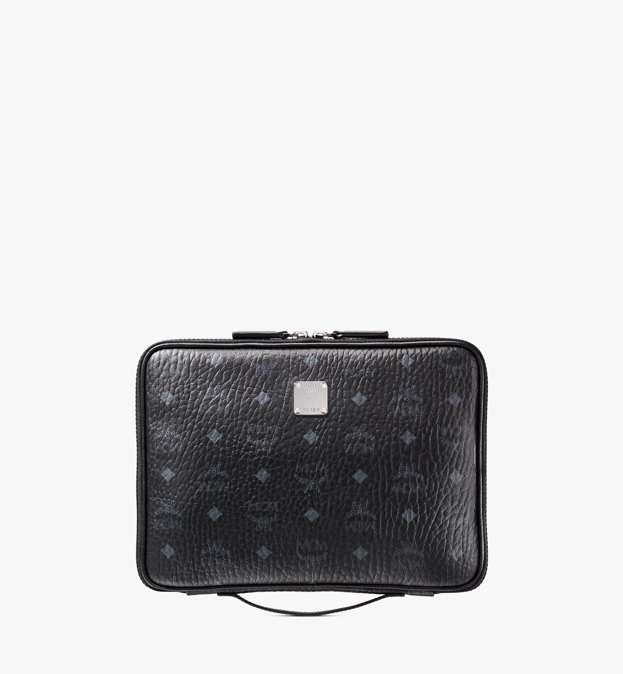 """MCM 11"""" iPad Case in Visetos Original Black MXEAAVI04BK001 Alternate View 1"""