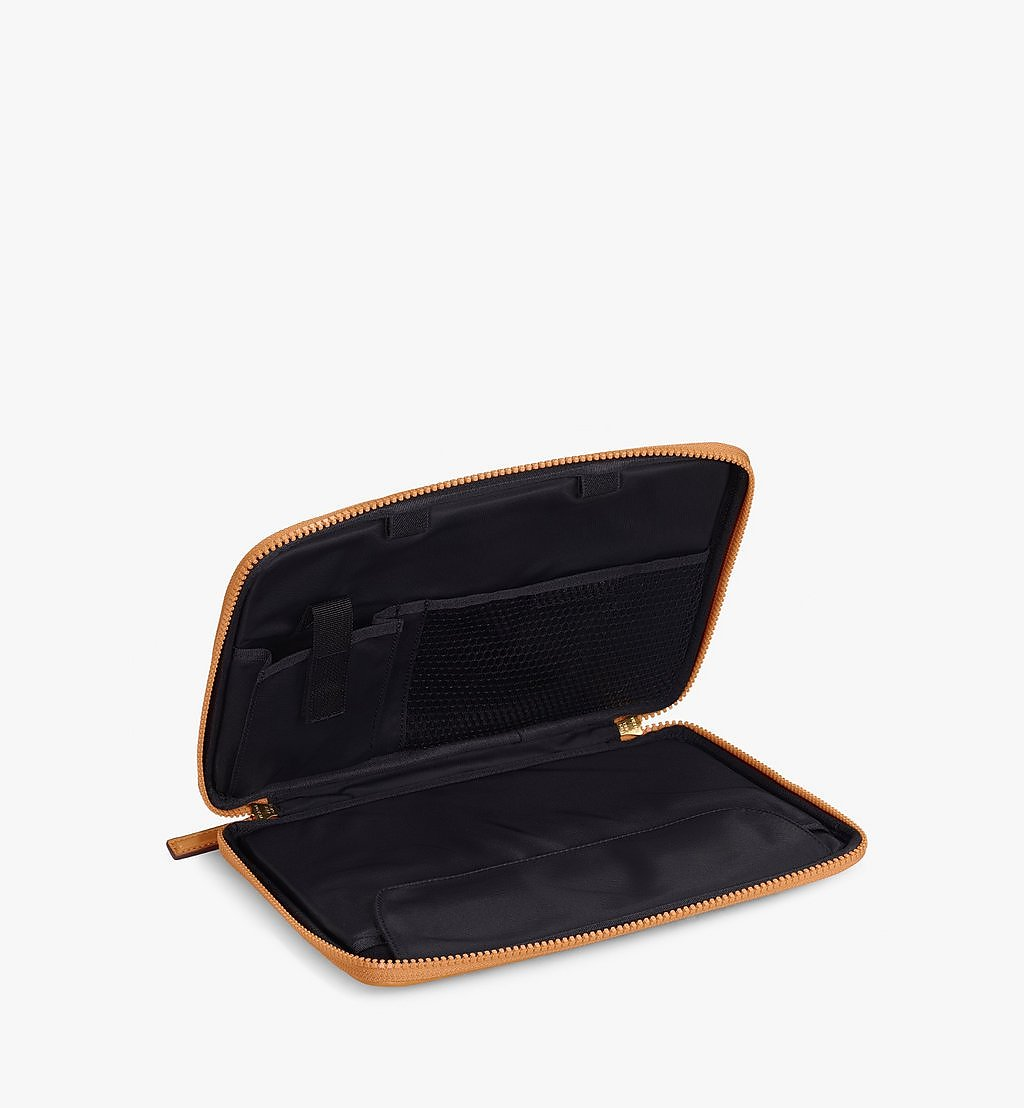 """MCM 11"""" iPad Case in Visetos Original Cognac MXEAAVI04CO001 Alternate View 1"""