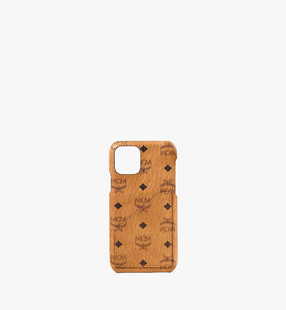 MCM iPhone 11 Pro Case in Visetos Original Cognac MXEAAVI05CO001 Alternate View 1