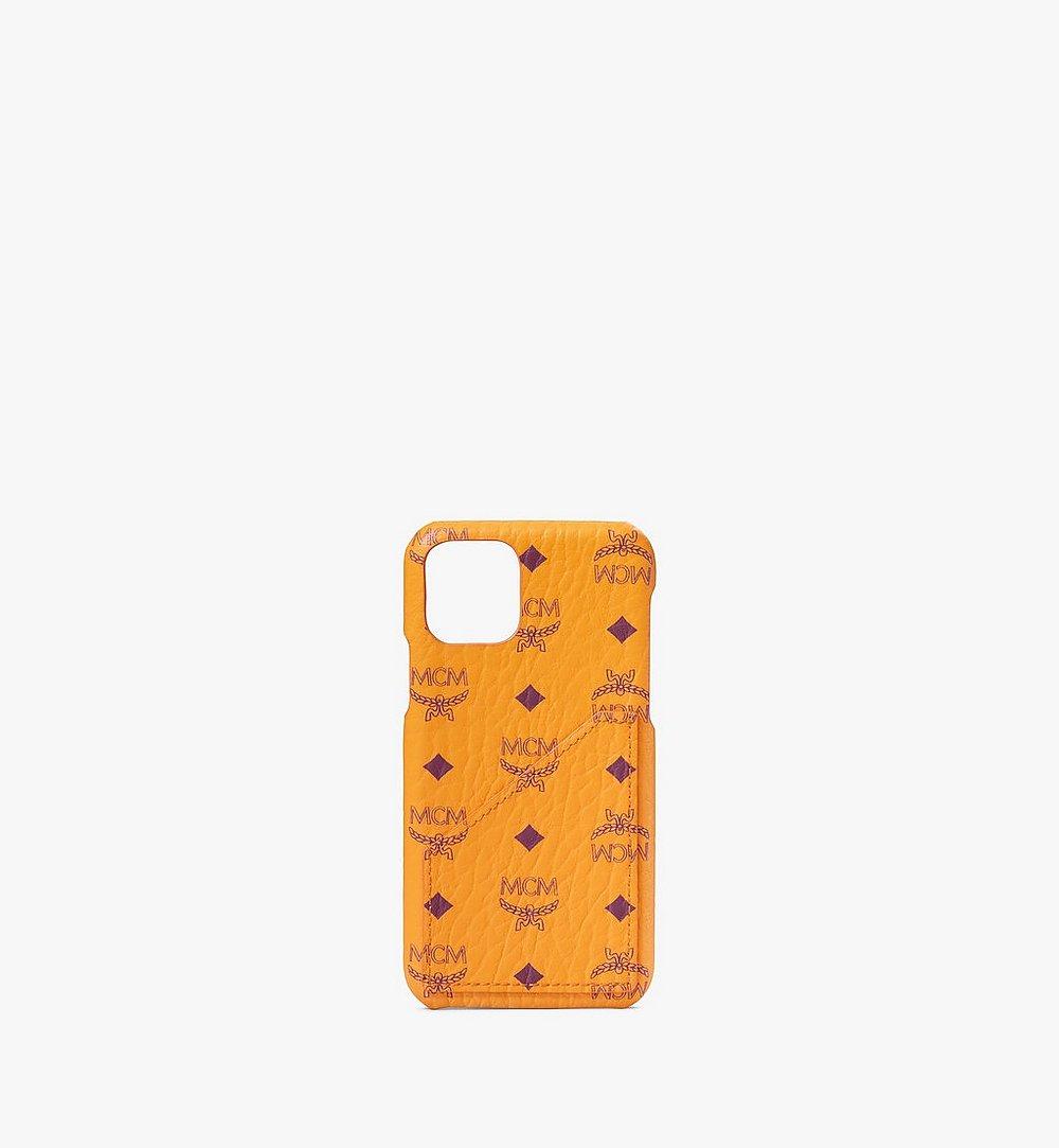 MCM iPhone 11 Pro Case in Visetos Original Orange MXEAAVI05O5001 Alternate View 1