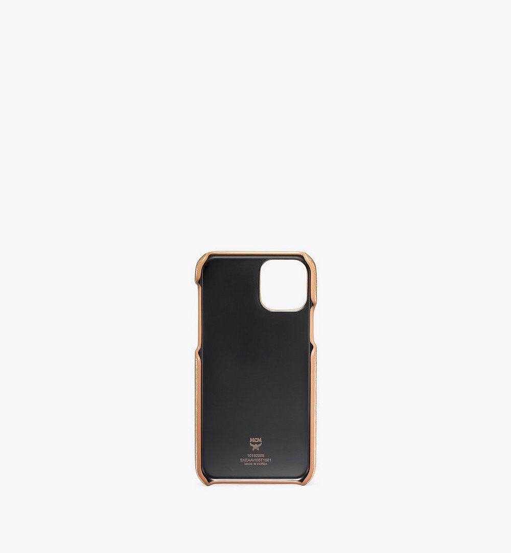 MCM iPhone 11 Pro Case in Visetos Original Gold MXEAAVI05T1001 Alternate View 1