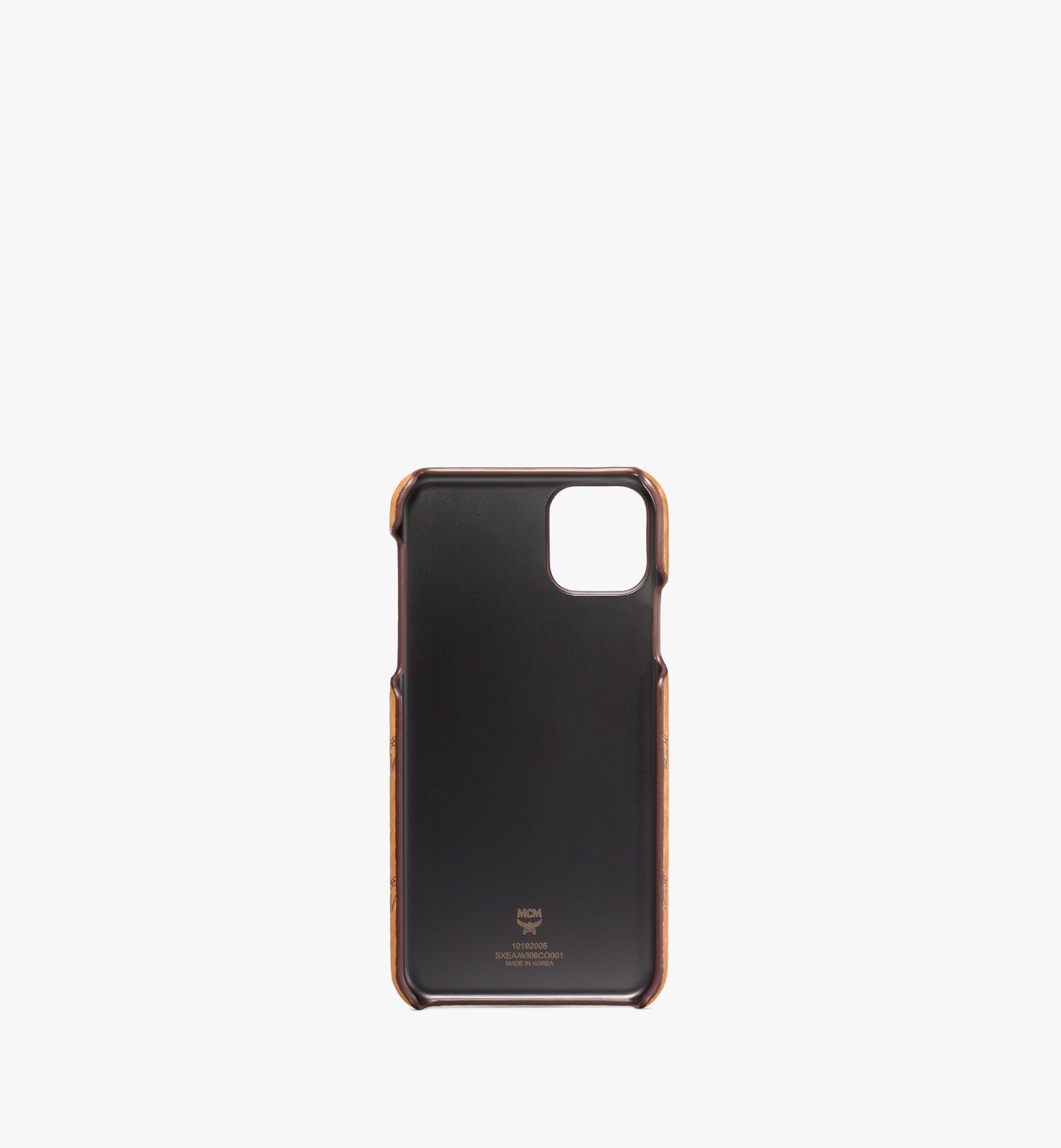 MCM iPhone 11 Pro Max Case in Visetos Original Cognac MXEAAVI06CO001 Alternate View 1