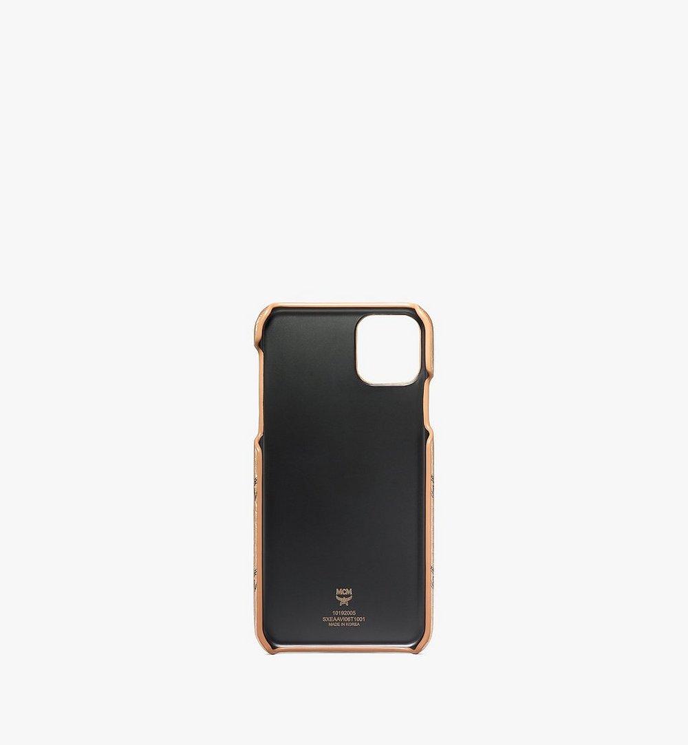 MCM iPhone 11 Pro Max Case in Visetos Original Black MXEAAVI06T1001 Alternate View 1