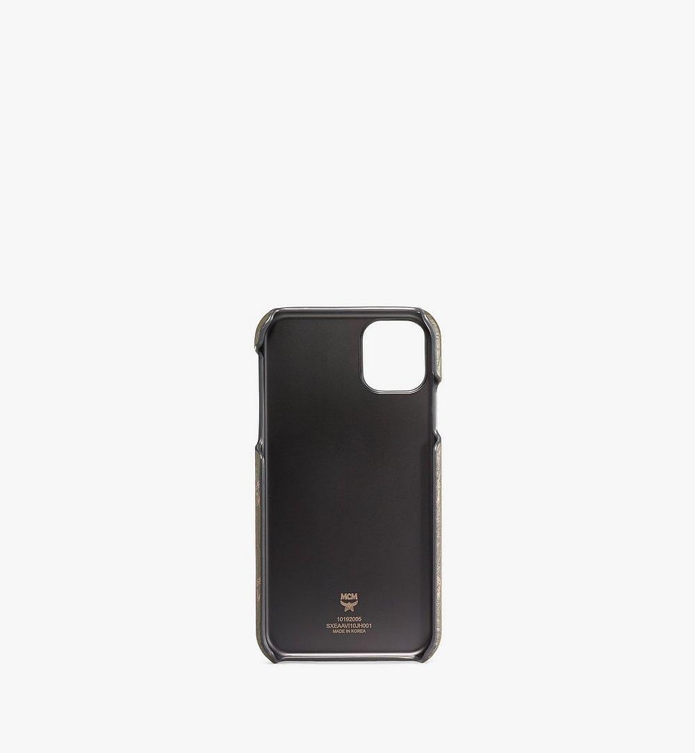MCM iPhone 11 Case in Visetos Original Green MXEAAVI10JH001 Alternate View 1