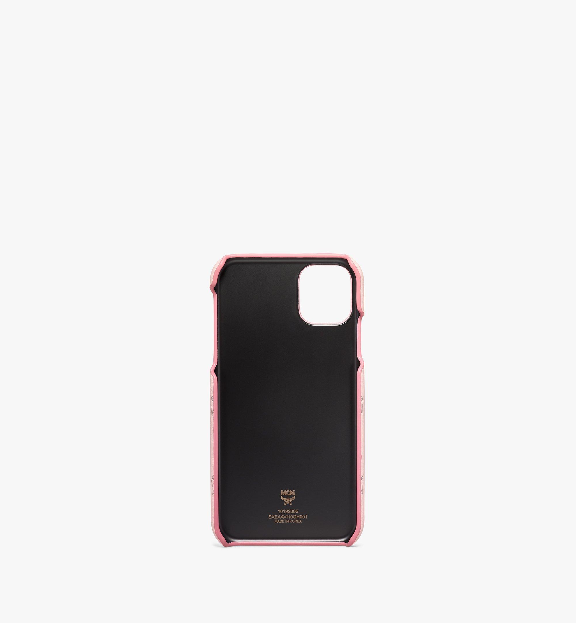 MCM iPhone 11 Case in Visetos Original Pink MXEAAVI10QH001 Alternate View 2