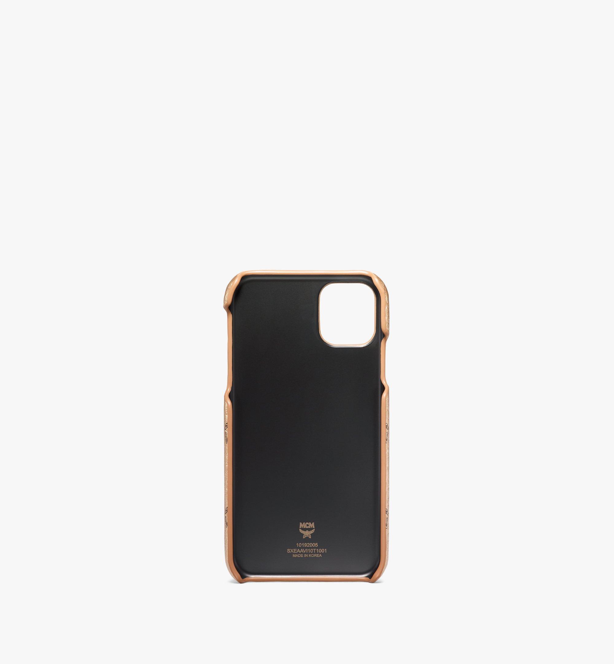 MCM iPhone 11 Case in Visetos Original Gold MXEAAVI10T1001 Alternate View 2