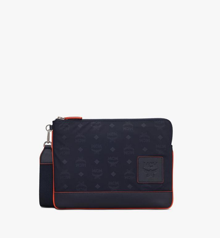 MCM Klassik Tablet Cover in Monogram Nylon Blue MXEASKC01VA001 Alternate View 2