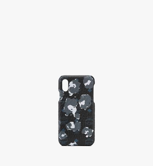 iPhone X/XS ケース - フローラルレオパード