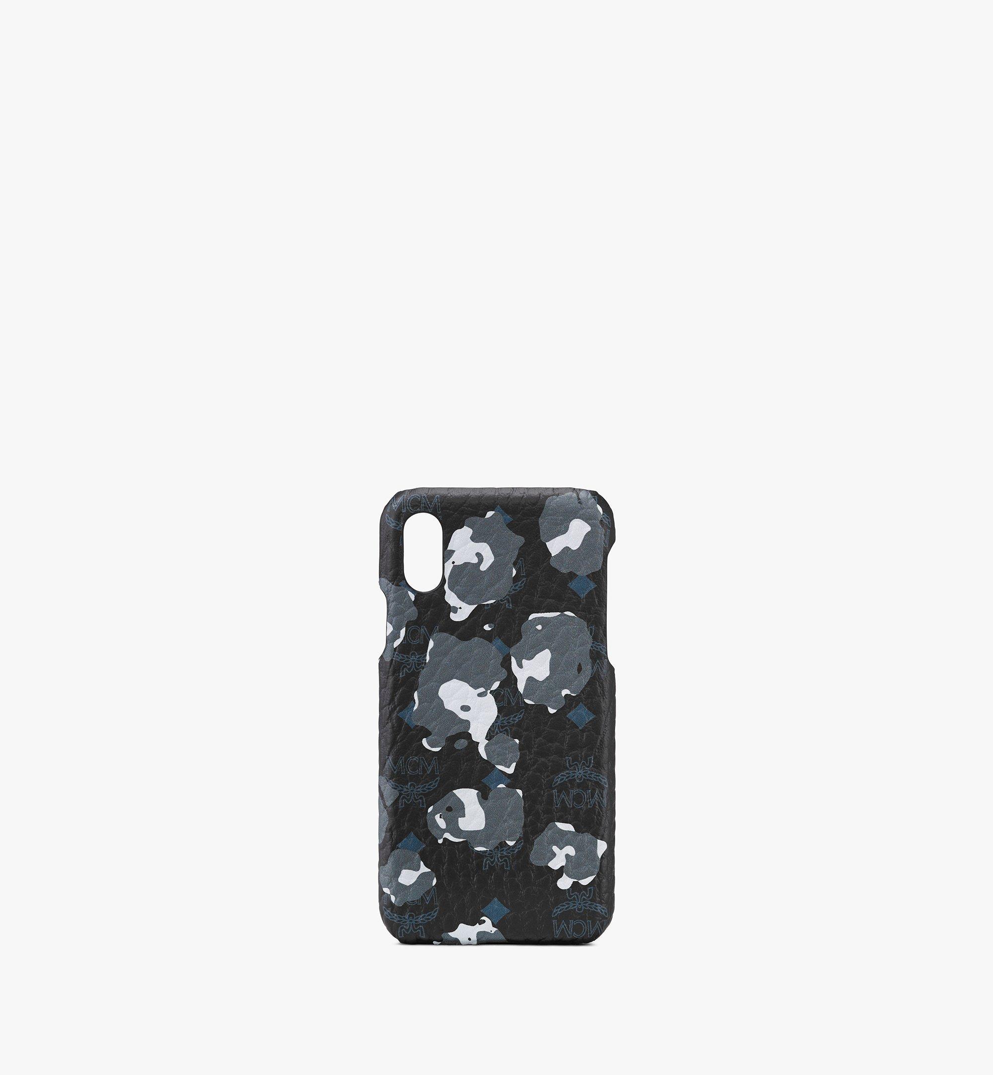 MCM iPhone X/XS ケース - フローラルレオパード Black MXEASLF01B1001 Alternate View 1