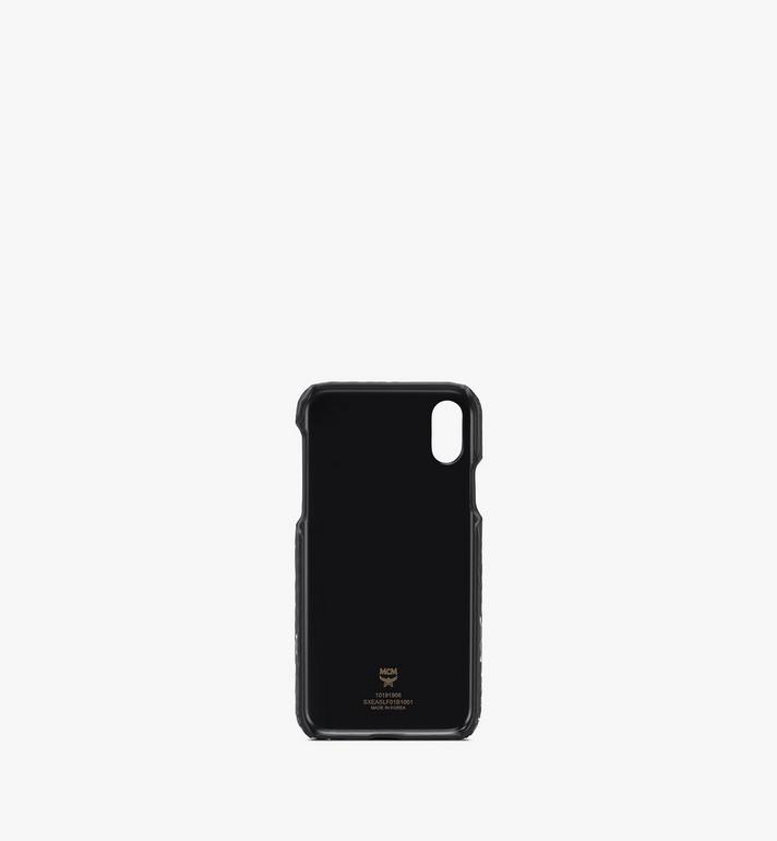 MCM iPhone X/XS ケース - フローラルレオパード Black MXEASLF01B1001 Alternate View 2