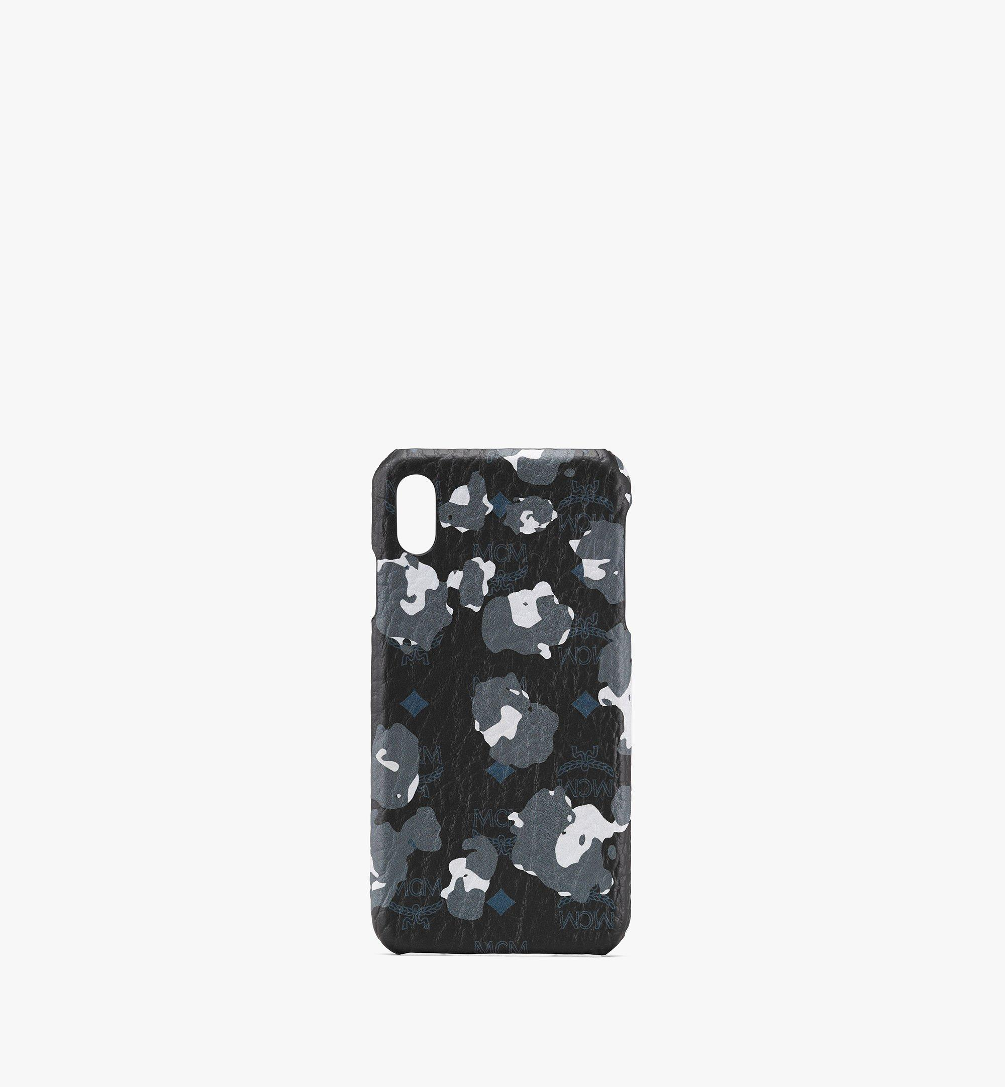 MCM iPhone XS Max Case in Floral Leopard Black MXEASLF02B1001 Alternate View 1