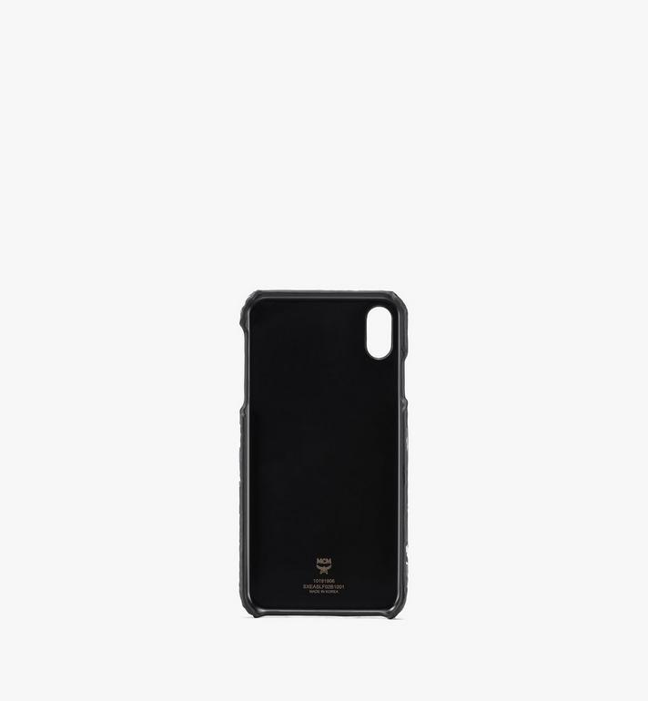 MCM iPhone XS Max ケース - フローラルレオパード Black MXEASLF02B1001 Alternate View 2