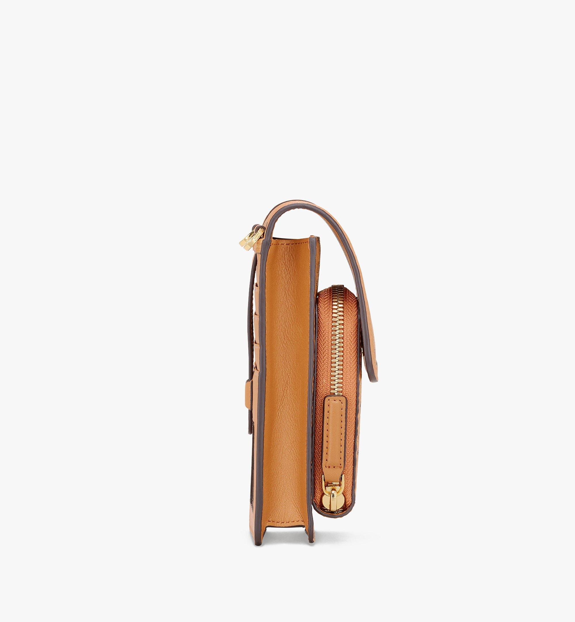 MCM Crossbody Phone Case in Visetos Cognac MXEASVI03CO001 Alternate View 2