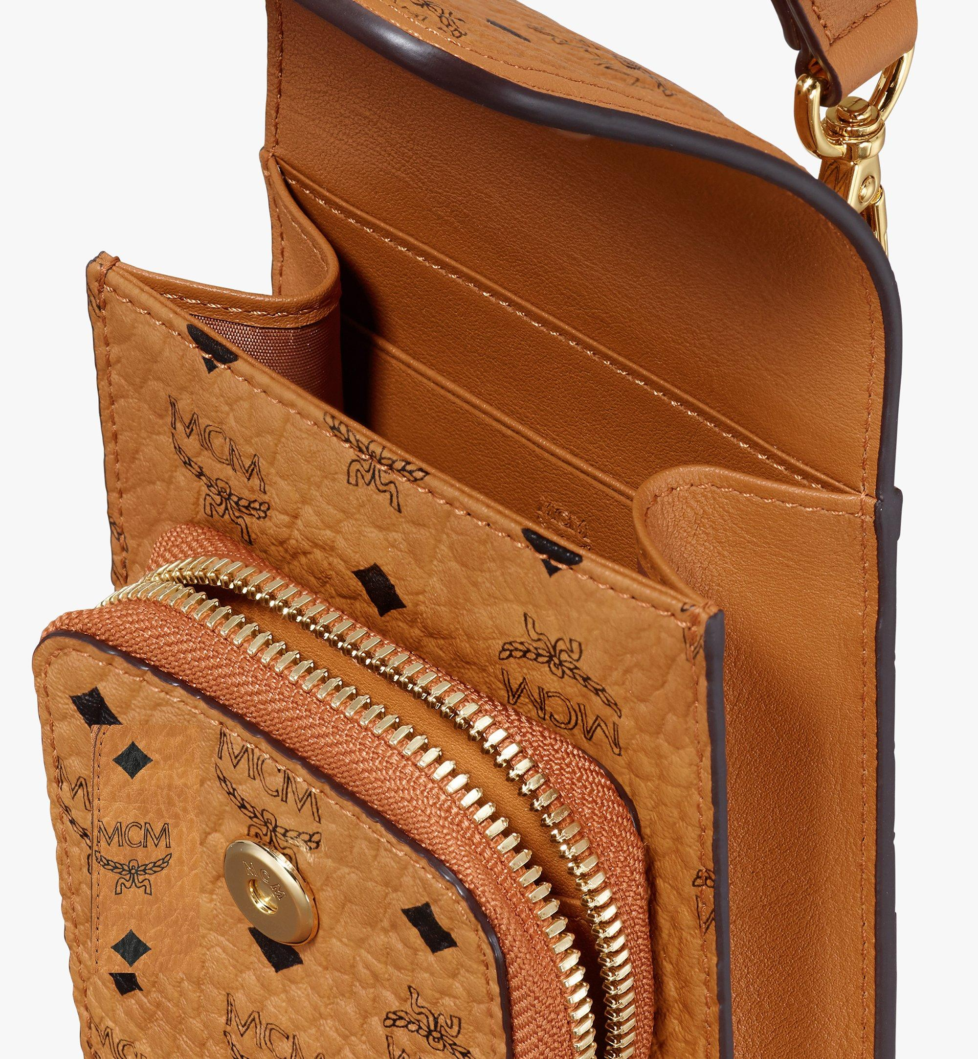 MCM Crossbody Phone Case in Visetos Cognac MXEASVI03CO001 Alternate View 3