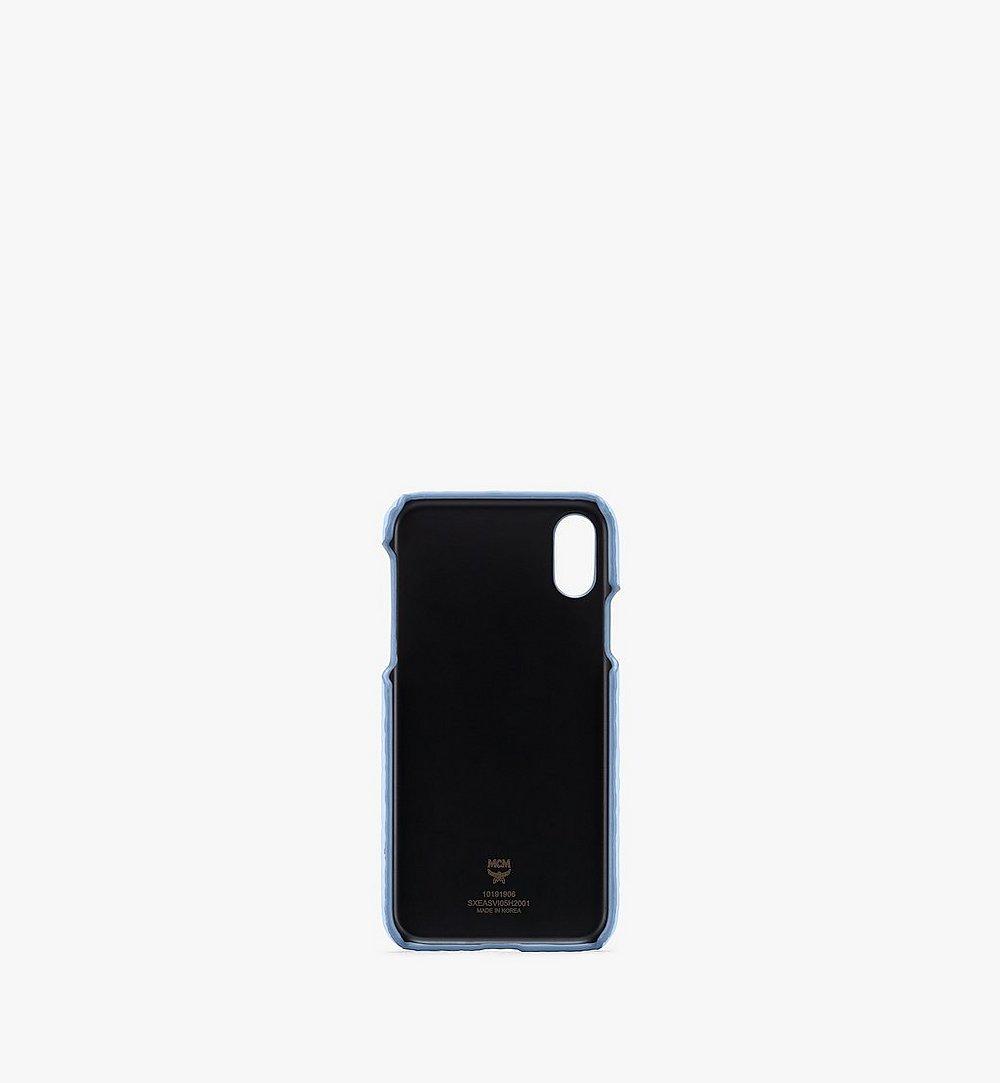 MCM iPhone X/XS Case in Visetos Original Blue MXEASVI05H2001 Alternate View 1