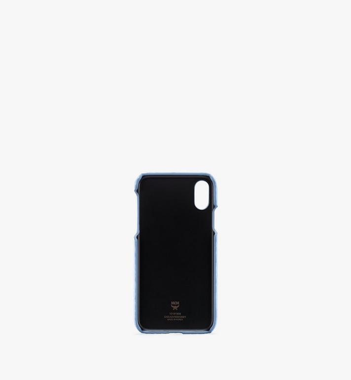 MCM iPhone X/XS Case in Visetos Original Blue MXEASVI05H2001 Alternate View 2