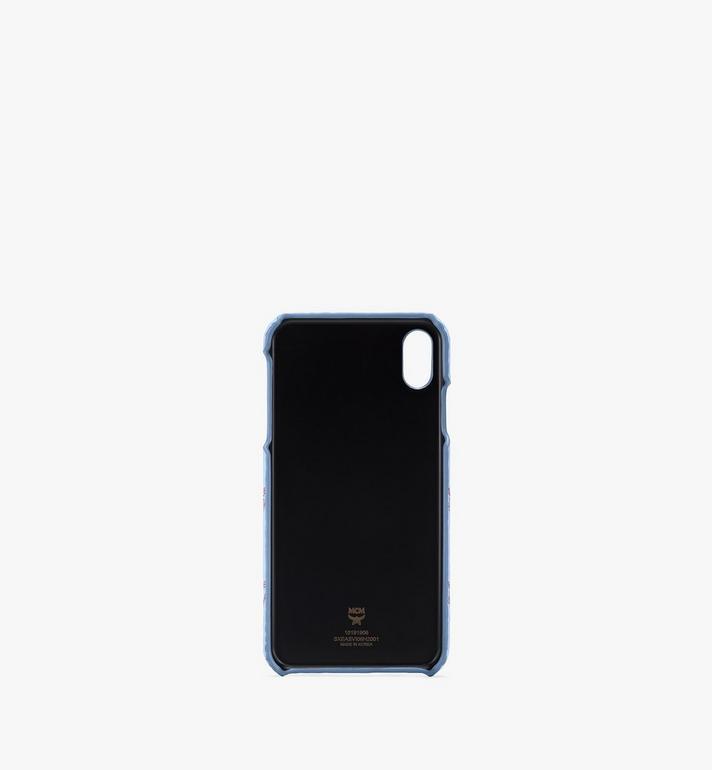 MCM iPhone X/XS Max Case in Visetos Original Blue MXEASVI06H2001 Alternate View 2