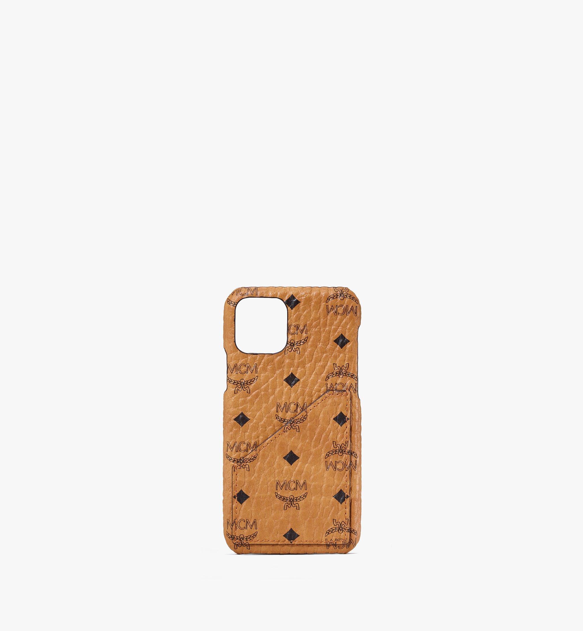 MCM iPhone 11 Pro Case in Visetos Cognac MXEASVI07CO001 Alternate View 1
