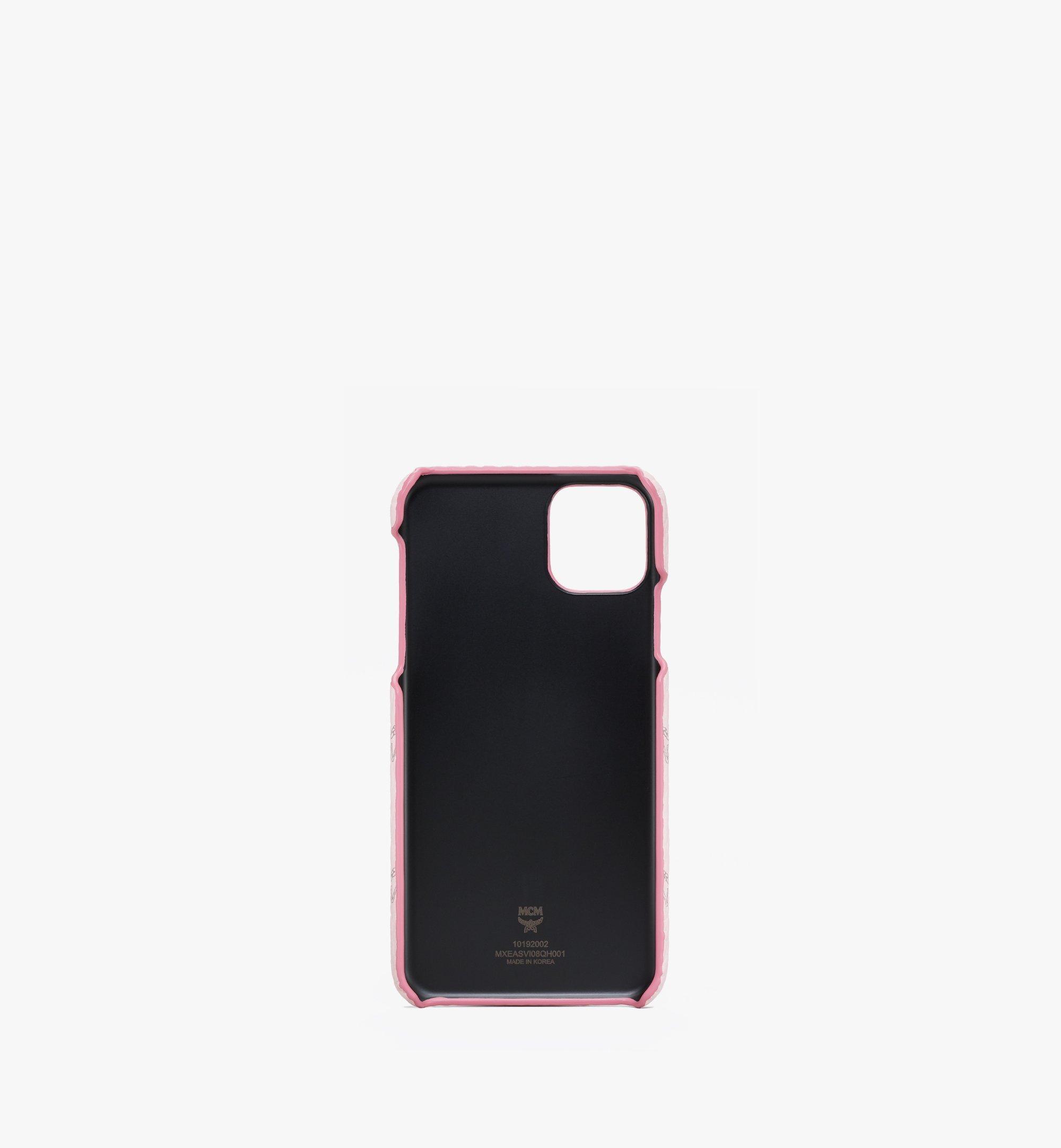MCM iPhone 11 Pro Max Case in Visetos Pink MXEASVI08QH001 Alternate View 1